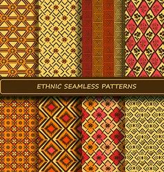 Set of yellow orange brown abstract ethnic vector image