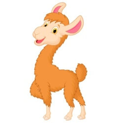 Happy llama cartoon vector image vector image