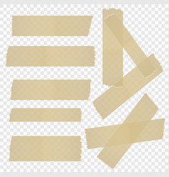 a selection of adhesive tape vector image