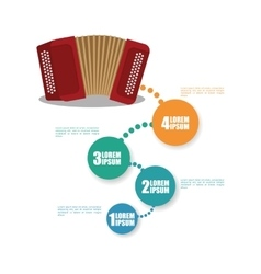 Accordion music sound infographic vector