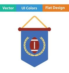 American football pennant icon vector image