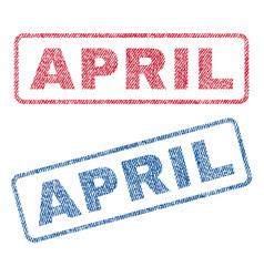 April textile stamps vector