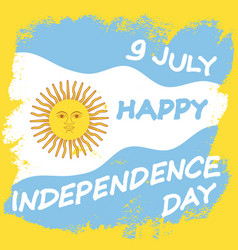 argentina independence day vector image