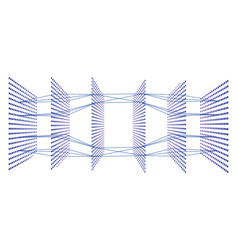Artificial neural network with six layers 3d view vector