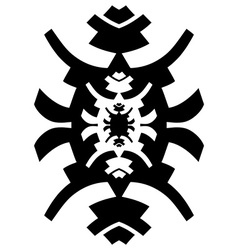 Black and white hipster ornament vector image