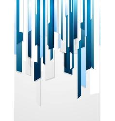 Bright corporate blue striped design vector
