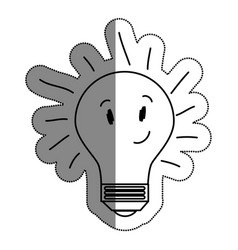 Bulb light character drawing icon vector