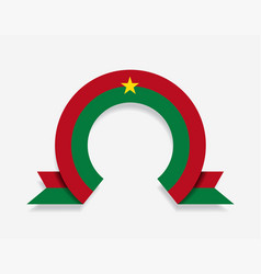 burkina faso flag rounded abstract background vector image