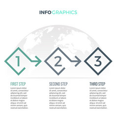 business infographics timeline with 3 options vector image