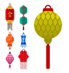 chinese lantern paper lightertraditional vector image