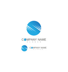 circle letter s company logo vector image