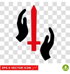 Classic Guard Sword Eps Icon vector image