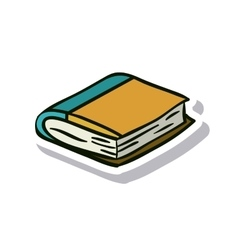 Close book and literature design vector