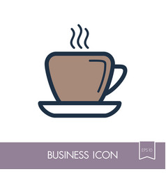 Coffee cup outline icon business sign vector
