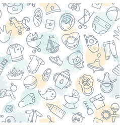 Colorful of seamless pattern of children toys vector