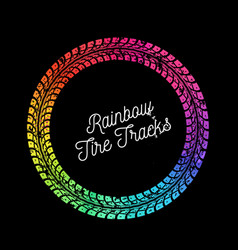 Colorful tire tracks vector