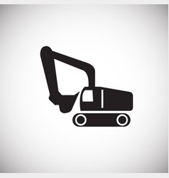construction truck on white background vector image