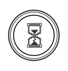 contour emblem mouse hourglass cursor icon vector image