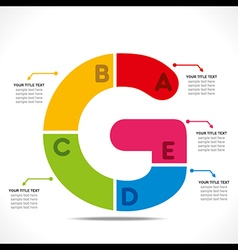 Creative alphabet G info-graphics design concept v vector
