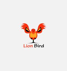 creative logo a bird a lion color design vector image