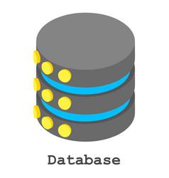 Database icon isometric style vector