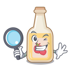 Detective apple cider isolated with mascot vector