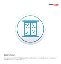 dice icon hexa white background icon template vector image