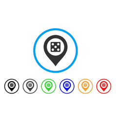 dice map marker icon vector image