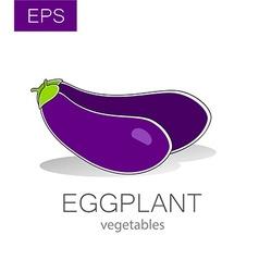 eggplant vegetables vector image