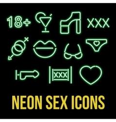 Erotic xxx Icons vector image