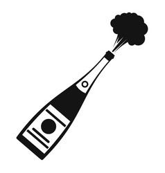 Explosion champagne icon simple style vector