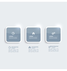 Glossy plastic buttons vector image