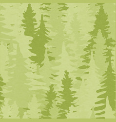 green pine tree forest seamless pattern background vector image