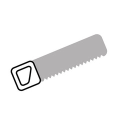 handsaw tool isolated icon vector image