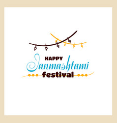 Happy janmashtami festival vector