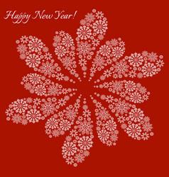 happy new year snowflake postcard vector image