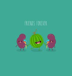 healthy food for internal organs vector image