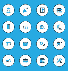 industry colorful icons set collection of open vector image