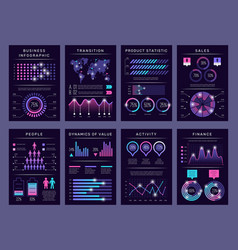 infographic brochures modern abstract graph vector image