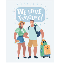 inspired young loving couple vector image