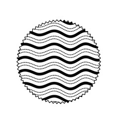 Isolated pattern circle design vector