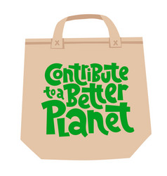 keep bag lettering vector image