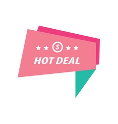 Label hot deal pink and green vector