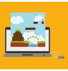 laptop technology online game mouse vector image
