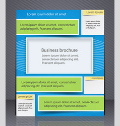 Layout business brochure template or a magazine vector
