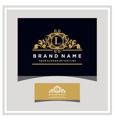 Letter l logo design concept royal luxury gold vector