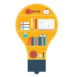 Light bulb library vector image