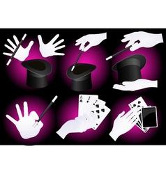 Magician hands vector