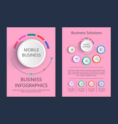 Mobile business solutions vector