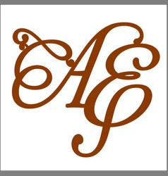 Monogram letters vector